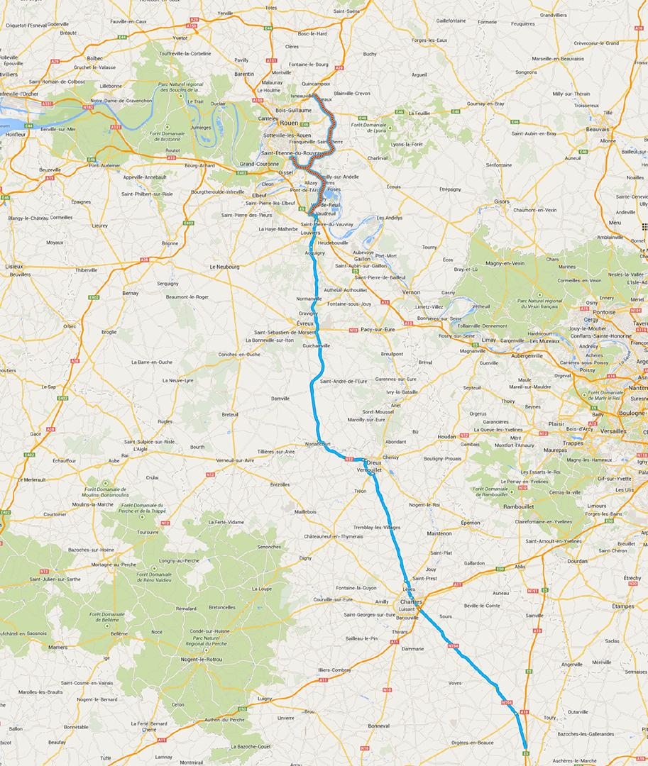 a28-A154 de Rouen à Orléans