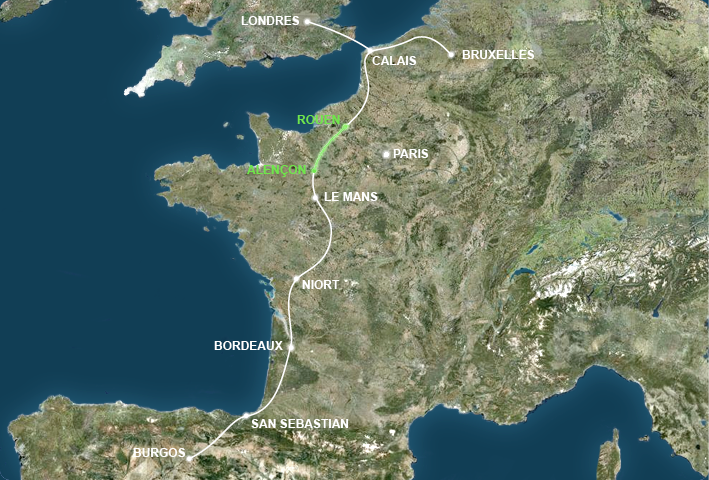 A28, l'axe Calais-Bayonne