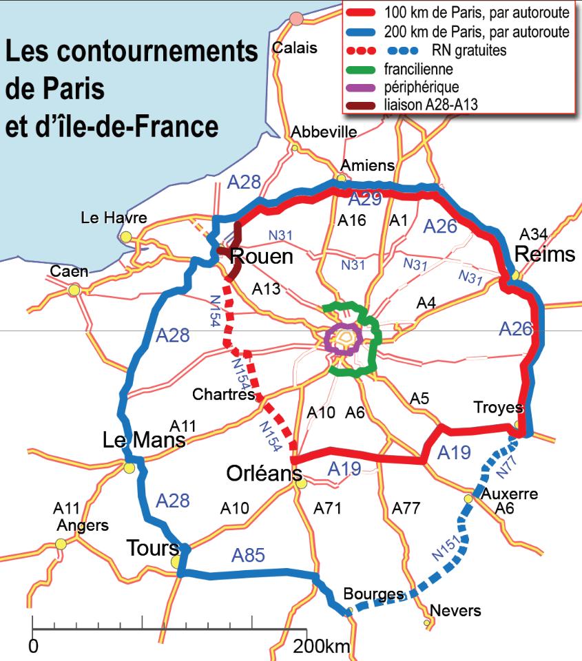 les contournements de Paris