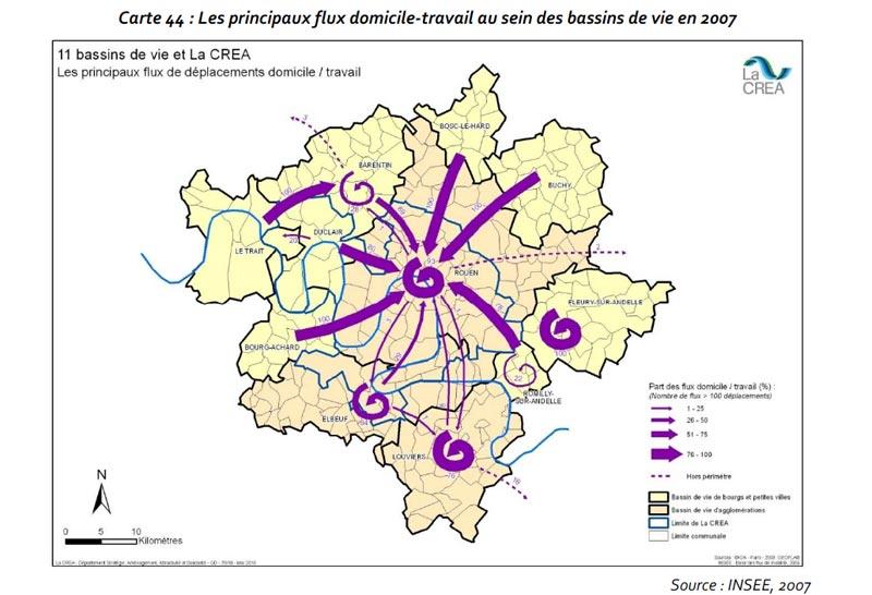 Le trafic interne (ou local) - domicile travail