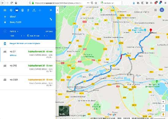 Boos - Elbeuf : jusqu'à 30 minutes de gain de temps pour un trajet qui prend 45 minutes en heure de pointe, et 22 kilomètres.
