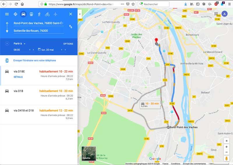 Aux minutes de gains de temps de 30 minutes sur un trajet qui durent de 28 à 30 minutes, il faut ajouter les 22 minutes de traversée du boulevard industriel (RD18e).