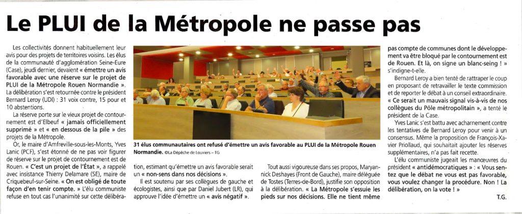 Article de la dépêche de Louviers - Thomas Guilbert - 31 mai 2019