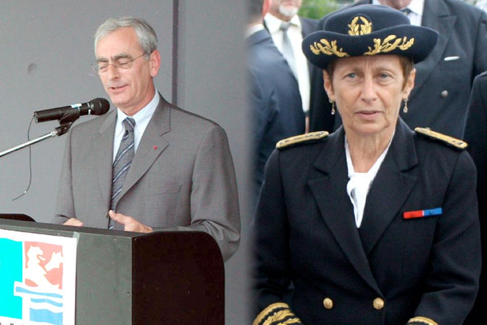 Les préfets Bruno Fontenaist et Nicole Klein