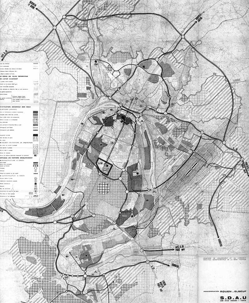Carte de destination générales des sols - SDAU 1972